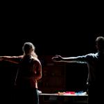"Lizbeth MacKay and Kelsey Kurtz in Huntington's production of ""Sons of the Prophet""; photo by Paul Marotta"
